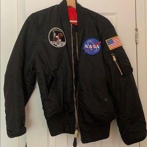 Alpha Industries Apollo NASA puffer bomber jacket